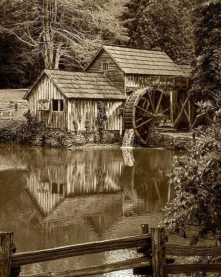 Mabry Mill Sepia