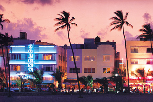 South Beach at Sunset