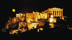 Moonrise Behind the Acropolis, Athens, G