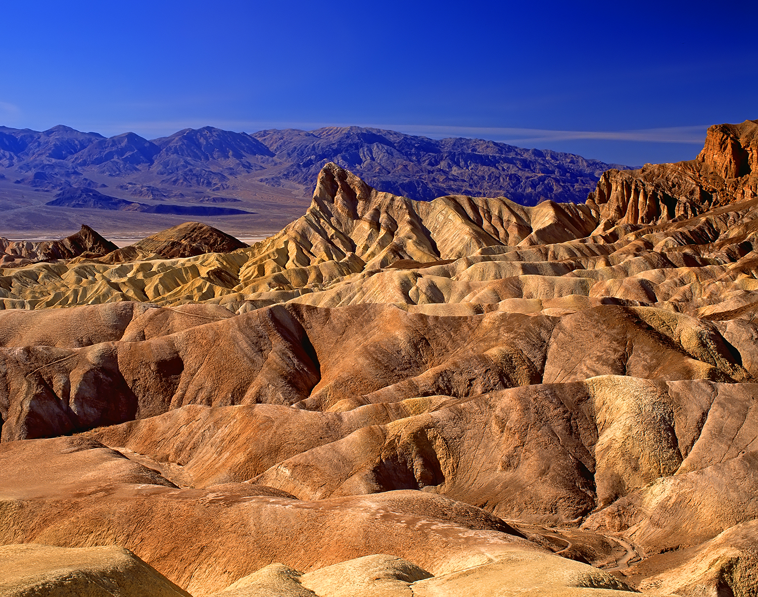 Manly Beacon from Zabriskie Point, Death Valley 1