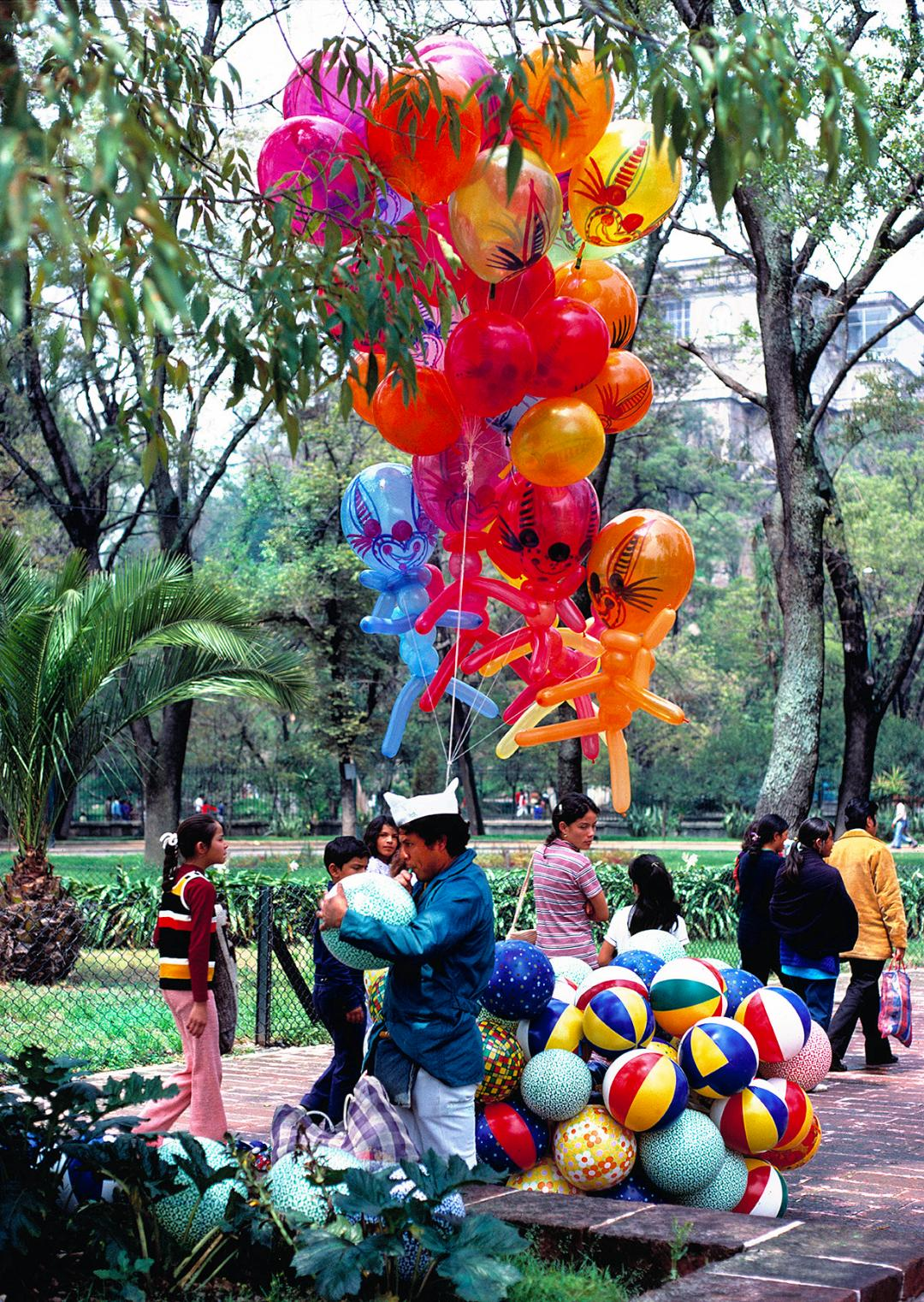 Balloon Man in Chapultapec Park, Mexico