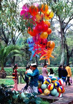 Balloon Man in Chapultapec Park, Mexico