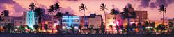 South Beach at Sunset