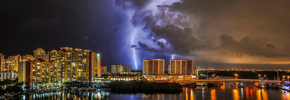 Lightning Over Sunny Isles Beach