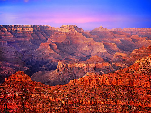 Alpenglow from Mather Point