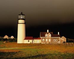 Stormy Sunrise on Highland Lighhouse, Cape Cod NS