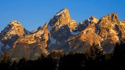 Sunrise on Top of Grand Teton