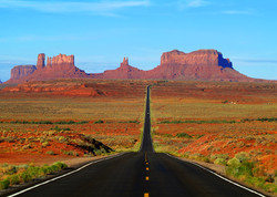 The Lonely Road at Monument Valley