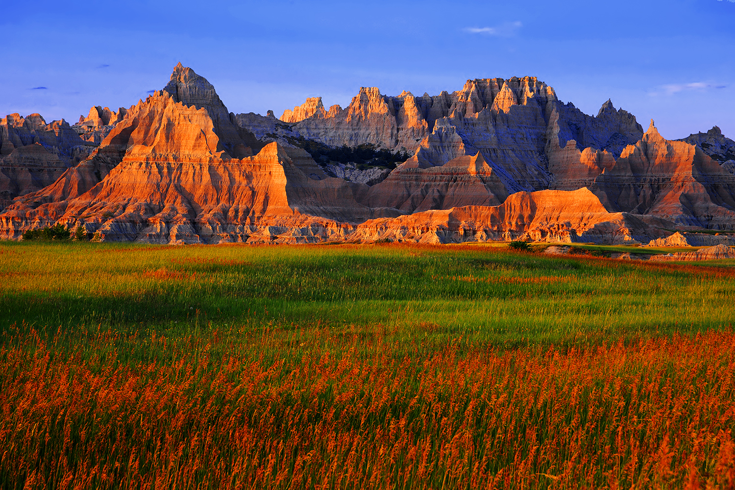 Cedar Pass Area Sunset, Badlands NP
