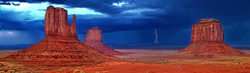 Summer Storm behind Monument Valley