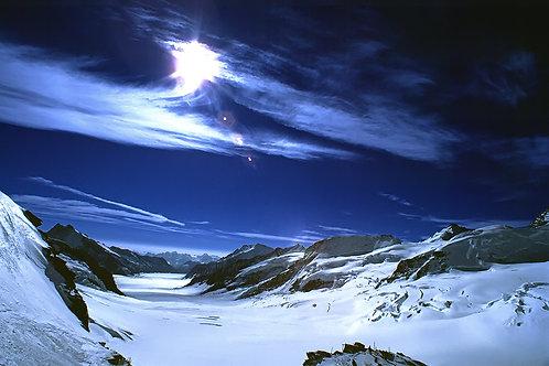 Aletsch Glacier Behind the Jungfrau, Switzerland