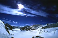 Aletsch Glacier Behind the Jungfrau, Swi