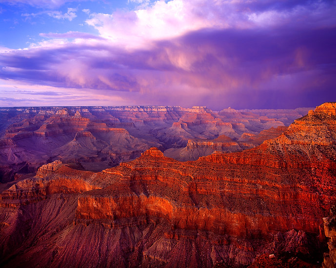 Summer Evening Storm, Mather Point, Grand Canyon National Park