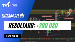 ENTRADA DEL DÍA + 290 USD