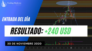 + 240USD  *VIDEO* Entrada del día 30/11/20