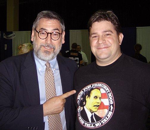 John Landis with Cristian Stavrakis
