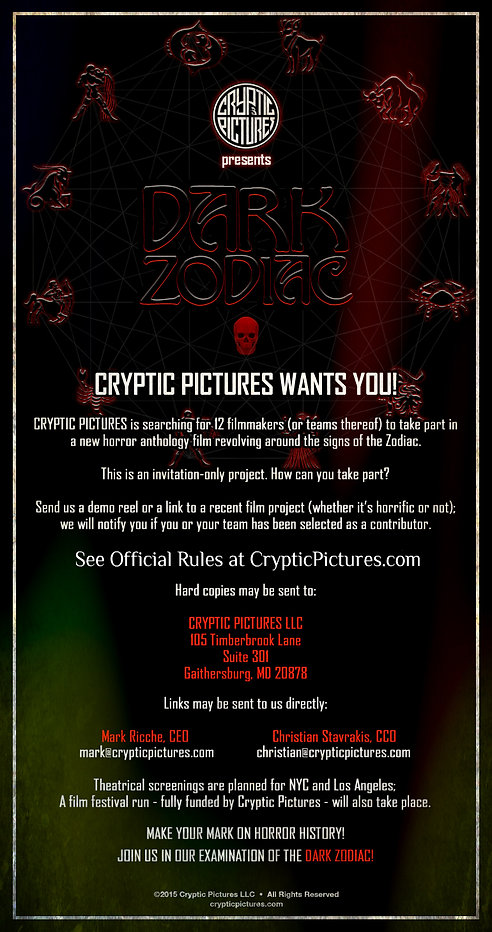 CRYPTIC PICTURES | DARK ZODIAC