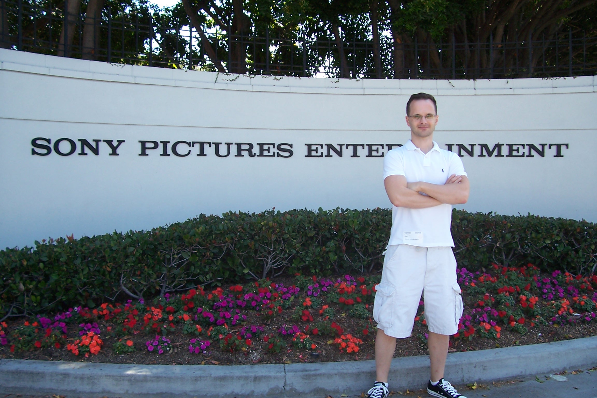 Mark Ricche on the Sony lot