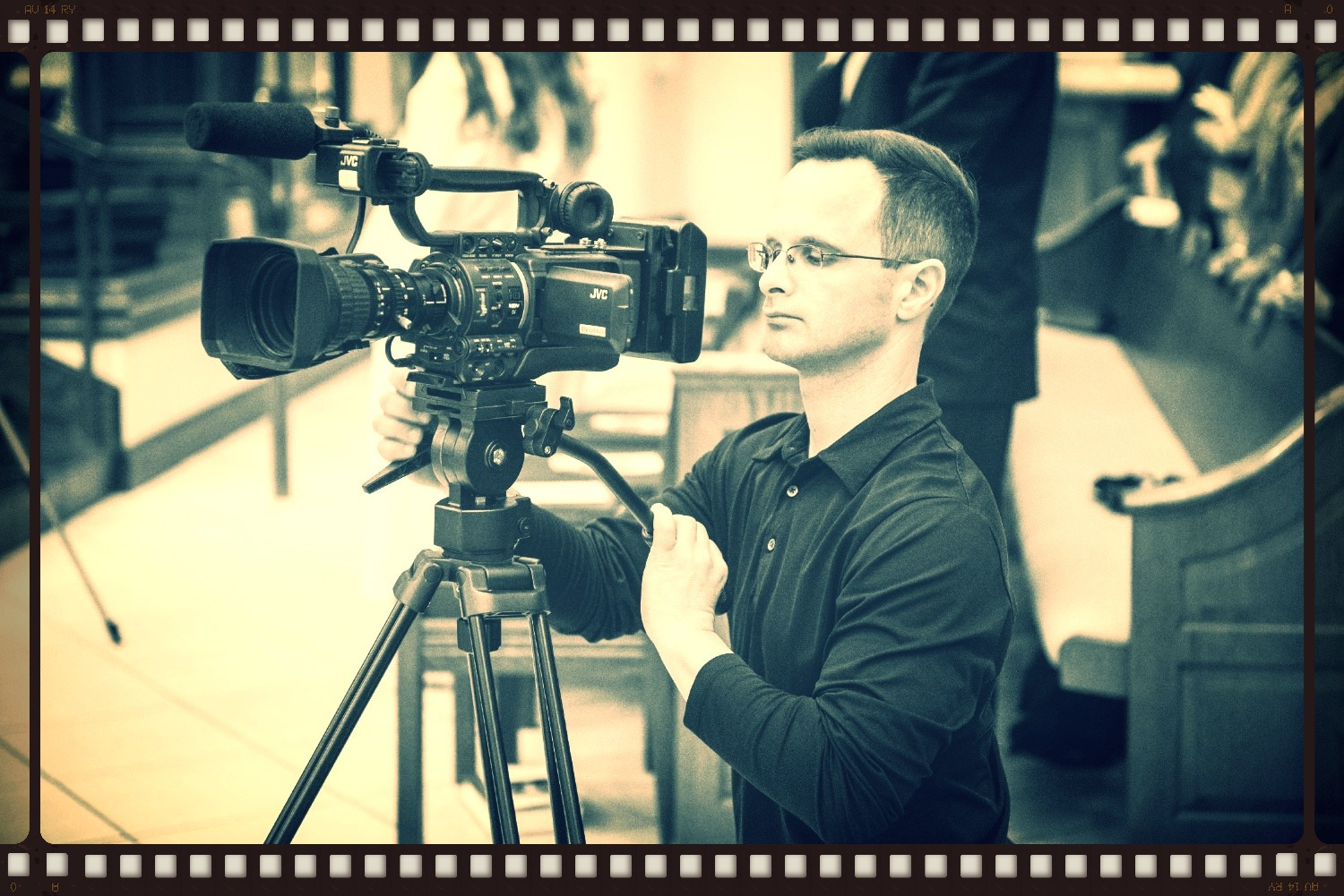 Mark Ricche behind the camera