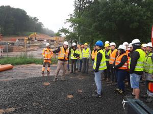 Baustellenbesichtigung A49 bei Schwalmstadt-Wiera