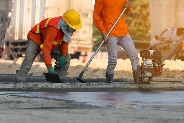 Concrete road construction workers, Cons