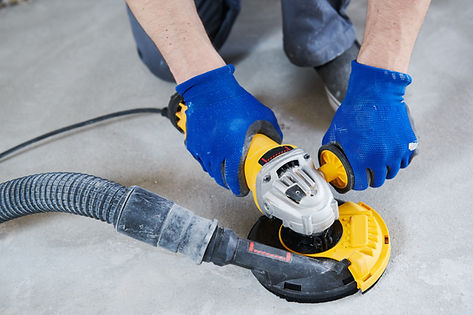 concrete floor surface grinding by angle