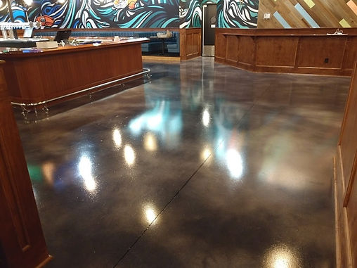 HOPCAT FLOORS, FLOORS THAT SHINE, STAINED CONCRETE, COLORED CONCRETE FLOOR