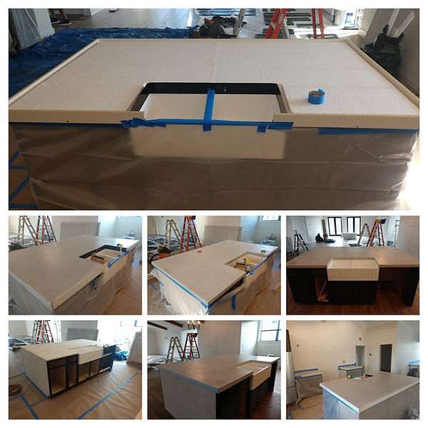CAST IN PLACE COUNTERTOP