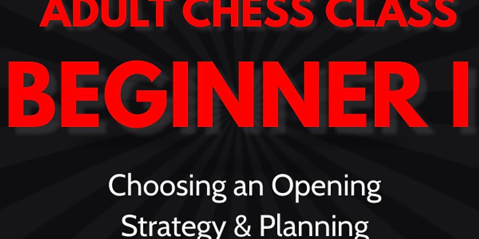 Adult Chess Class: Beginners I