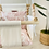 Thumbnail: Beige Swing and Blush Roses High Back Baby Swing