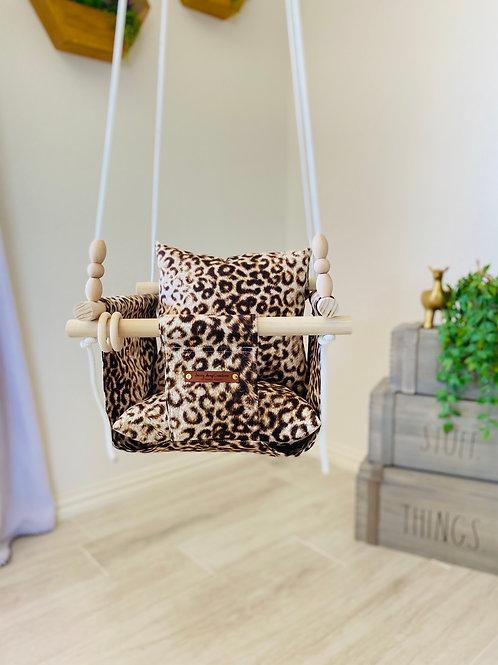 Leopard Regular Back Baby Swing