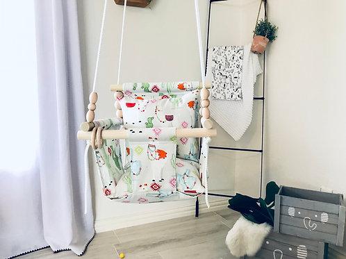 Llamas/Cactus High back Baby Swing