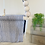 Thumbnail: Blue and White Striped High Back Baby Swing