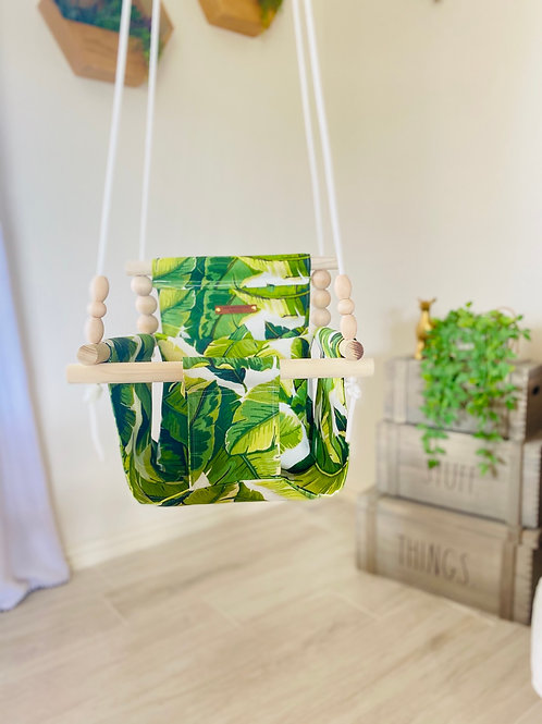OUTDOOR Tropical High Back Baby Swing
