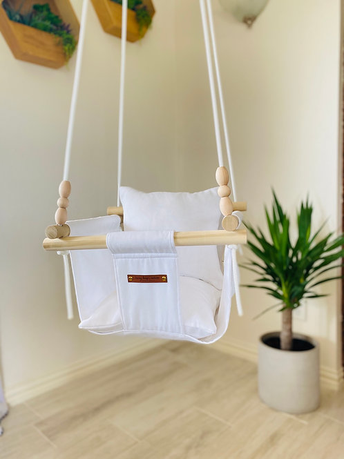 White  Regular Back Baby Swing