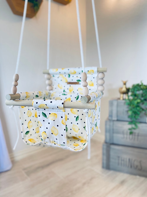 Lemon High Back Baby Swing