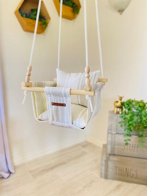 Natural/Gray Baby Swing