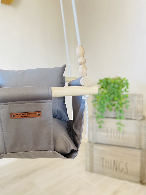 Gray Baby/ Toddler Swing