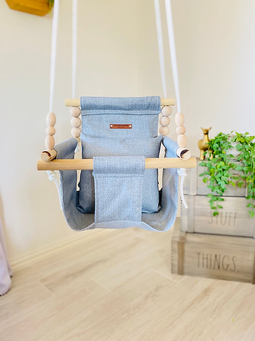 OUTDOOR Gray High Back Baby Swing