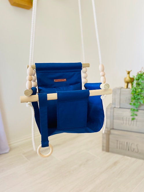 Navy Blue High back Baby Swing