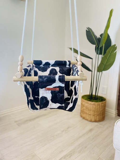 Cow print Regular Back Baby Swing