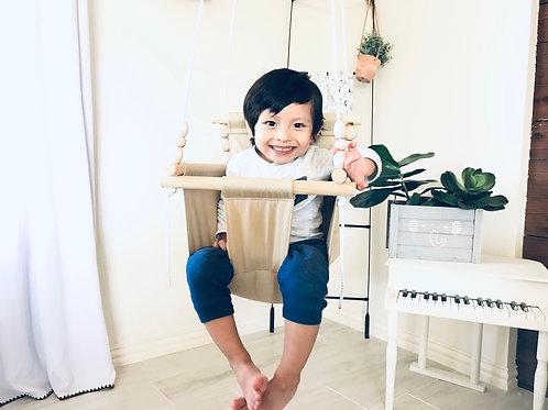Khaki High back Baby Swing
