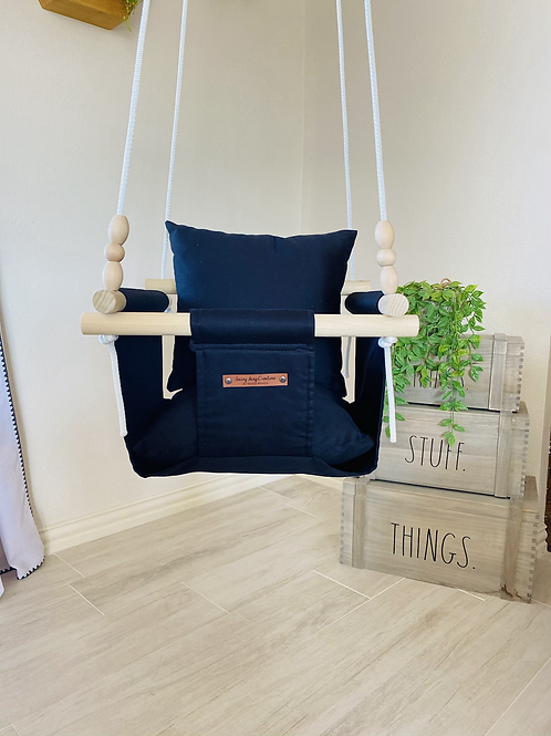 Black Regular Back Baby/ Toddler Swing
