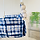 Thumbnail: Blue and White High Back Baby Swing