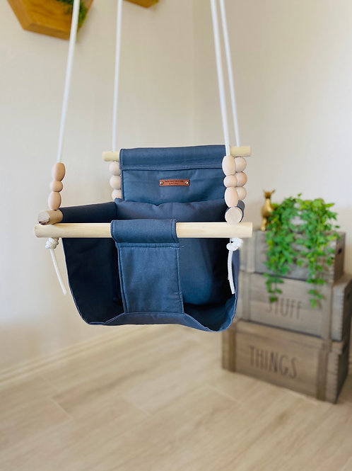 Charcoal Gray High back Baby Swing