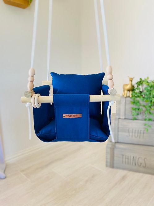 Navy Blue Regular Back Baby/ Toddler Swing