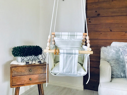 Natural/Gray High back Baby Swing