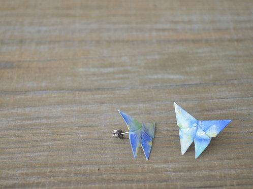 Origami Butterfly Stud Earrings 折り紙の蝶のスタッドピアス