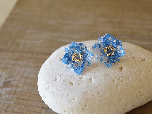 Origami Tiny Flower Stud Earrings 小花の折り紙スタッドピアス