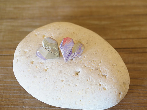 Origami Heart Stud Earrings ハートの折り紙スタッドピアス